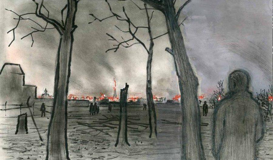 Bezuidenhout in brand vanuit Voorburg